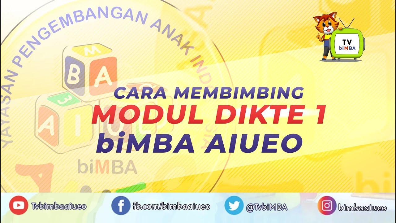 CARA MEMBIMBING MODUL DIKTE 1 biMBA AIUEO